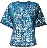 Diesel sheer animal pattern blouse