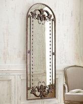 Antiqued Door-Frame Mirror