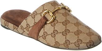 Gucci Gg Canvas Slipper
