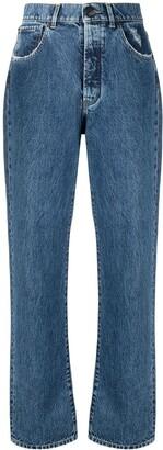 3x1 High-Rise Straight Leg Jeans