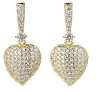 A&M A & M Gold-Tone Heart Drop Earrings