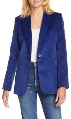 Helene Berman Single Button Cotton Corduroy Blazer