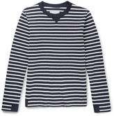 Sacai Canvas-Trimmed Striped Cotton Sweater