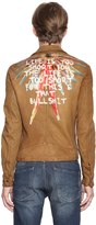 Php Life Hand-Painted Leather Jacket