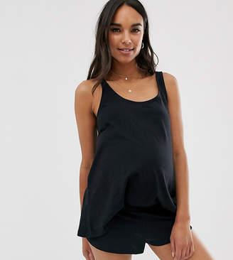 Asos DESIGN Maternity mix & match pyjama vest-Black