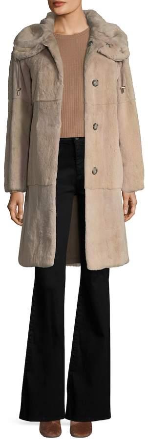 Yves Salomon Women's Weasel Fur Coat