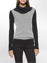 Calvin Klein Textured Cowl Neck Sweater