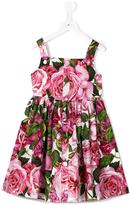 Dolce & Gabbana rose print dress - kids - Cotton - 8 yrs