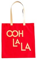 Rosanna Jazz Age Ooh La La Canvas Tote - Red