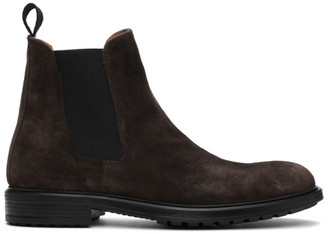 Officine Generale Taupe Suede Chelsea Boots