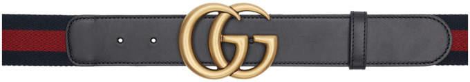 Gucci Black Web GG Belt