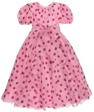 Dolce & Gabbana Polka-dot silk-chiffon dress