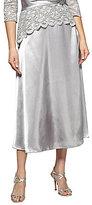 Alex Evenings Petite Charmeuse Tea-Length Skirt