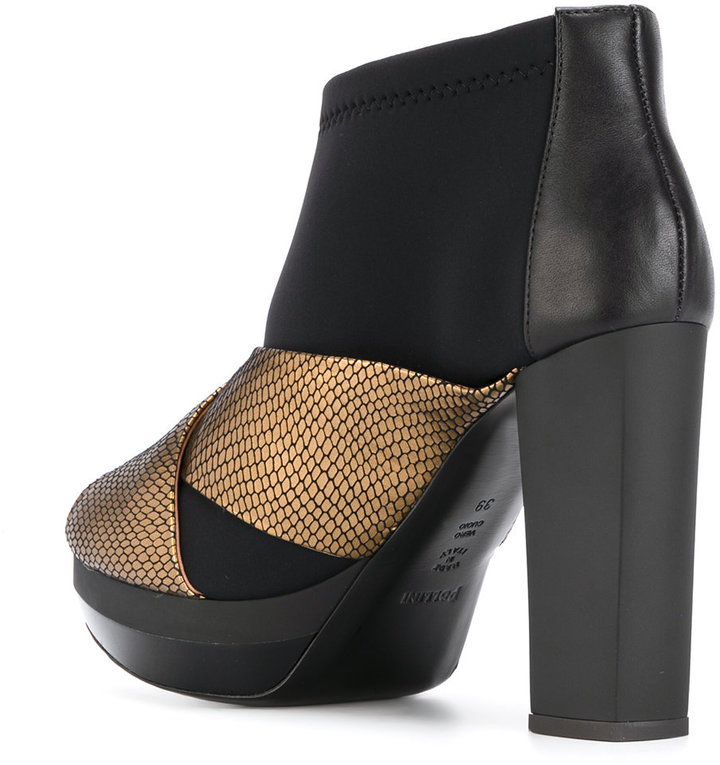 Pollini layered ankle boots