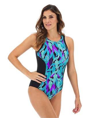 Jd Williams High Neck Sports Swimsuit Longer Length