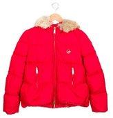 DSQUARED2 Girls' Fur-Trimmed Puffer Jacket