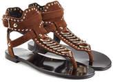 Balmain Embellished Suede Sandals