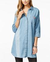 GUESS ORIGINALS Cotton Denim Tunic Shirt