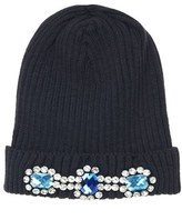 Embellished Ribbed Beanie