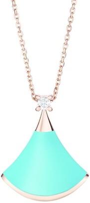Bvlgari Rose Gold Turquoise and Diamond Divas' Dream Necklace