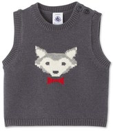 Petit Bateau Baby boys sleeveless jacquard sweater