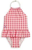 Ralph Lauren Baby's One-Piece Gingham Peplum Swimsuit