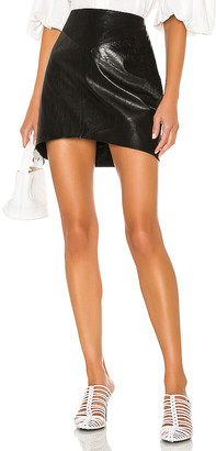 Blank NYC Sable Leather Mini Skirt