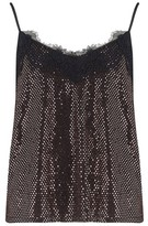 Dorothy Perkins Womens Girls On Film Black Lace Trim Camisole Top, Black