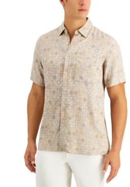 Tasso Elba Men's Doccia Medallion Shirt, Created for Macy's