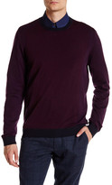 Ted Baker Colorblock Long Sleeve Merino Wool Sweater
