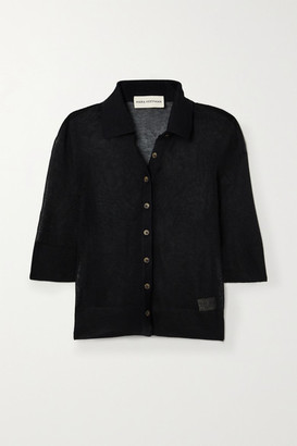 Mara Hoffman + Net Sustain Veronica Modal And Organic Cotton-blend Top - Black