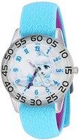 Disney Girl's 'Palace Pet' Quartz Plastic and Nylon Watch, Color:Blue (Model: W002825)