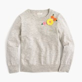J.Crew Girls' embroidered garden popover sweater
