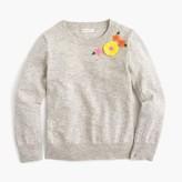J.Crew Girls' embroidered garden popover sweater