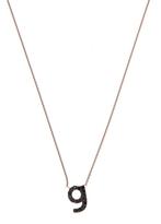 KC Designs Rose Gold Black Diamond Letter G Necklace
