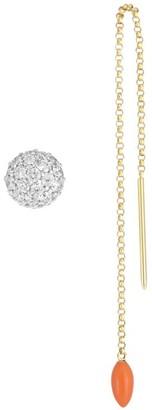 Roberto Coin Disney's Frozen 2 x 18K Yellow And White Gold, Diamond Stud & Olaf Threader Earring Set