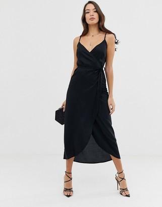 ASOS DESIGN cami wrap maxi dress