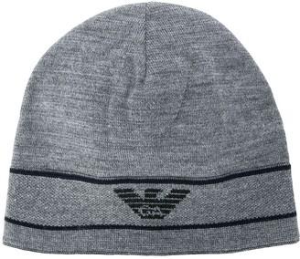 Emporio Armani Logo Embroidered Beanie Hat