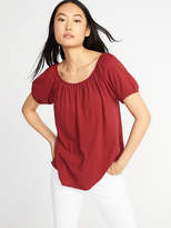Old Navy Relaxed Slub-Knit Bubble Top for Women