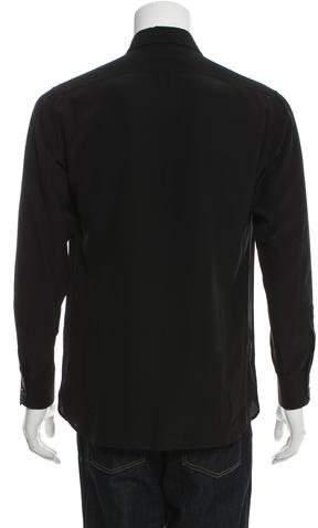 Saint Laurent Silk Button-Up Shirt
