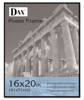 Dax Coloredge Poster Frame w/Plexiglas Window, 16 x 20, Clear Face/Black Border