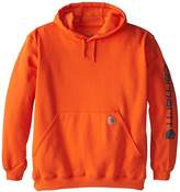 Carhartt Men's Big & Tall Signature Sleeve Logo Midweight Sweatshirt Hooded