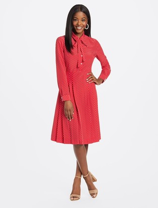 Draper James Tie Neck Shirtdress