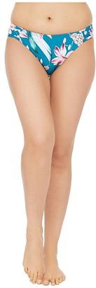 La Blanca Flyaway Orchid Side Shirred Hipster Bikini Swimsuit Bottoms (Caribbean Current) Women's Swimwear