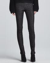 Missoni Metallic Skinny Side-Zip Pants, Black/Silver