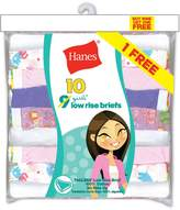 Hanes Girls` ComfortSoft 10-Pack Low Rise Briefs, PA13LR