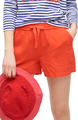 J.Crew Point Sur Seaside Linen Blend Shorts