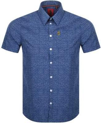 Luke 1977 Short Sleeved Casa Moda Shirt Navy
