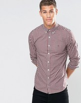 Tommy Hilfiger Shirt With Gingham Check In Slim Fit Port