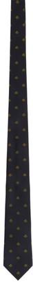 Gucci Navy Silk Jacquard Bees Tie